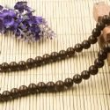 Beads, Glass, Brown , Round shape, Diameter 8mm, 10 Beads, [BHB0156]